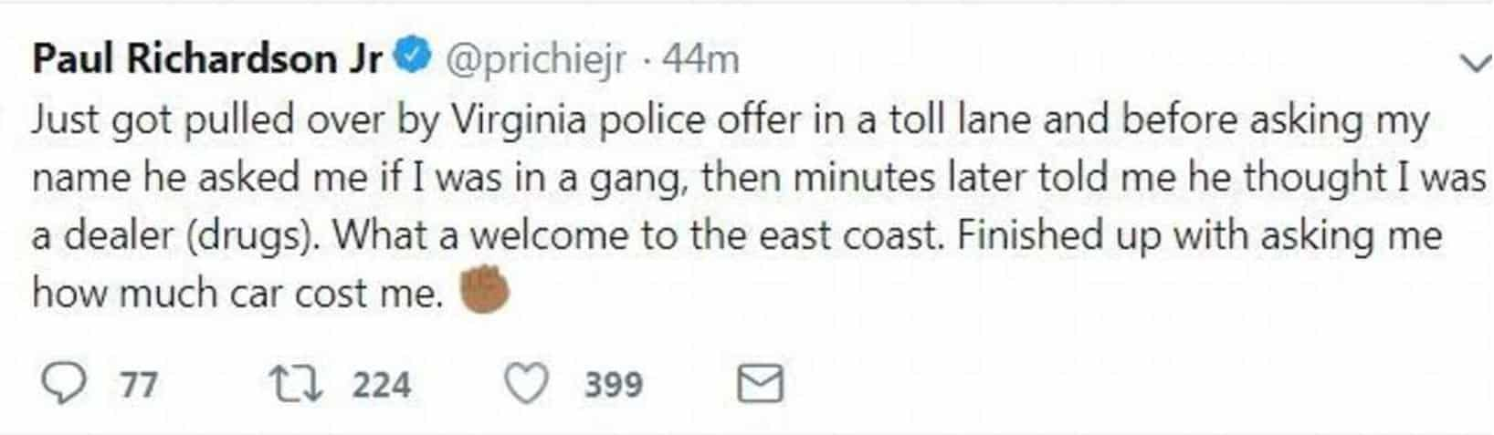 Paul-Richardson-redskins-deleted tweet-about-getting-pulled-over